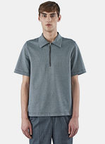 Yang Li Men's Houndstooth Polo Shirt In Black