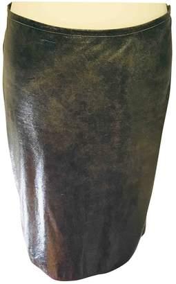 Jean Paul Gaultier Black Leather Skirts