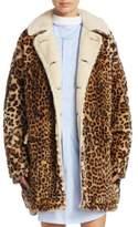 R 13 Leopard-Print Hunting Coat