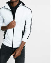 Express taped sleeve zip front track jacket