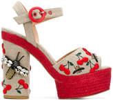 Castaner Aloe embroidered sandals