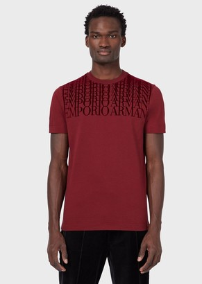 Emporio Armani Jersey T-Shirt With Repeated Logo