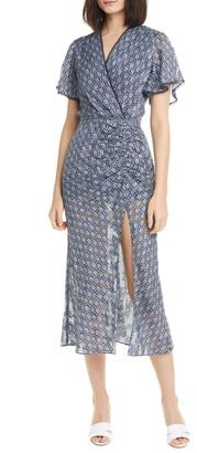 Jonathan Simkhai Lily Medallion Jacquard Silk Blend Midi Dress
