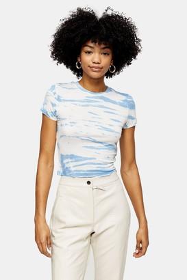 Topshop Blue Sky Tie Dye T-Shirt