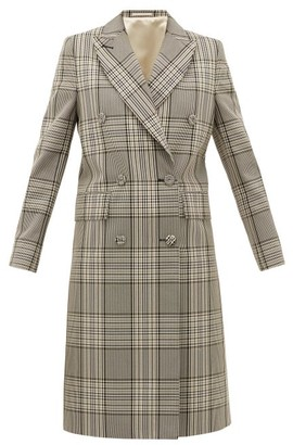 Officine Generale Clarissa Double-breasted Checked Cotton-blend Coat - Womens - Black Multi