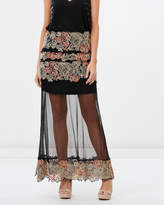 The Spanish Carnation Embroidered Maxi Skirt