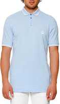 Dolce & Gabbana Tipped Piqué Polo Shirt, Light Blue