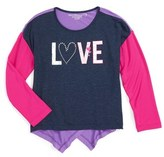Design History 'Love' Graphic Top (Toddler Girls & Little Girls)