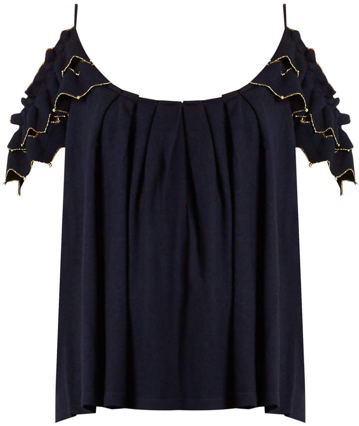 Alex Gore Browne Trapeze wool and cashmere-blend top