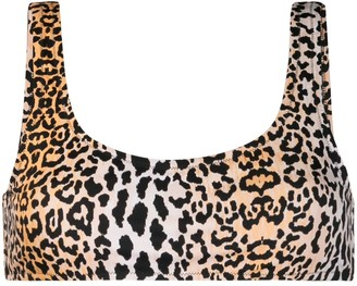Reina Olga Leopard print bikini top