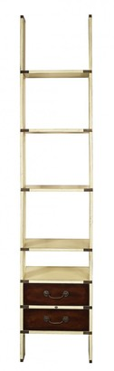 Am Living Library Ladder Shelves Ivory