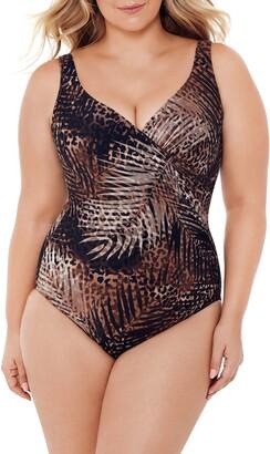 Miraclesuit Tigris It's a Wrap Underwire One-Piece Swimsuit