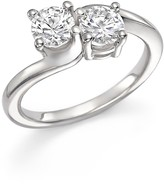 Bloomingdale's Diamond Two-Stone Ring in 14K White Gold, 1.0 ct. t.w. - 100% Exclusive