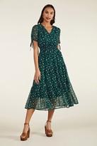 Yumi Ditsy Daisy Ruched Midi Dress
