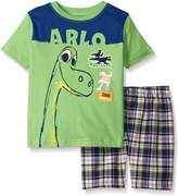 Disney Little Boys 2 Piece The Good Dino Screened Patches To Plaid Short Set