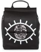 KENDALL + KYLIE Kendall & Kylie Annabell Evil Eye Leather Backpack