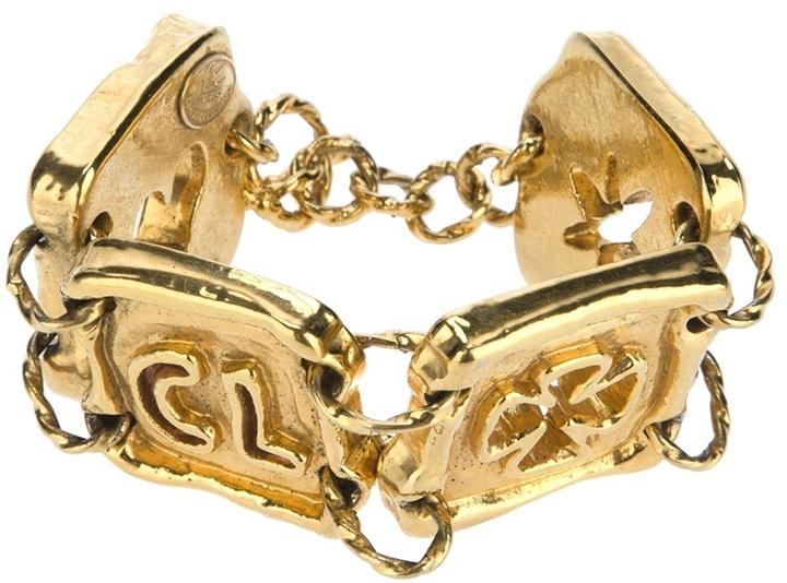 Christian Lacroix Vintage chunky plaque bracelet
