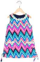 Lilly Pulitzer Girls' Geometric Print Sleeveless Dress