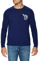 Versace Embroidered Logo Crewneck Sweater