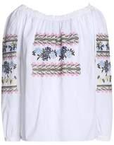 Needle & Thread Tasseled Embroidered Cotton-Gauze Dress