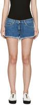 Rag & Bone Blue Cut-Off Denim Shorts
