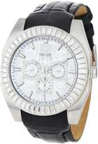 Ecko Unlimited Men's E19501G1 Black Leather Quartz Watch with Dial
