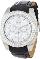 Ecko Unlimited Men's E19501G1 Black Leather Quartz Watch with Dial