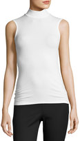 ATM Anthony Thomas Melillo Sleeveless Stretch Jersey Mock-Neck Top