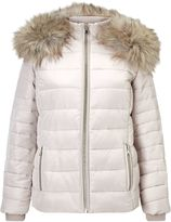 Miss Selfridge Nude Quilted Puffer