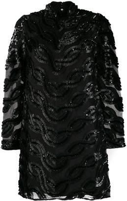 Cavallini Erika sequin-embellished silk dress
