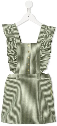 Velveteen Natalia pinafore striped dress