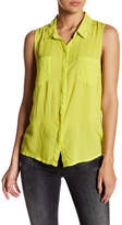 Splendid Sleeveless Button Front Shirt