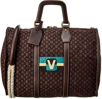 Louis Vuitton Brown Monogram Mini Lin Canvas Keepall 45
