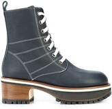 Sies Marjan lace-up platform boots