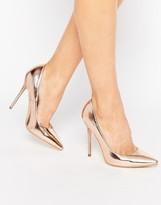 Public Desire Josie Rose Gold Court Shoes