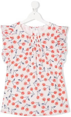 Bonpoint TEEN Lune cherry print blouse