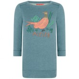 Oilily OililyGreen Pheasant Print Himone Sweater Dress