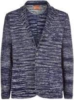 Missoni Cotton Knit Blazer, Navy, EU 52