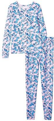 Lilly Pulitzer Sammy Pajama Set (Toddler/Little Kids/Big Kids) (Zanzibar Blue Ruff Night) Girl's Pajama Sets