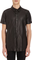 Gareth Pugh Leather Polo Shirt