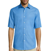 Claiborne Short-Sleeve Chambray Shirt