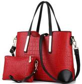 Vincico174; Women Shoulder Bag 2 Piece Tote Bag Pu Leather Handbag Purse Bags Set