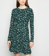 New Look Floral Spot Skater Dress