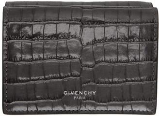 Givenchy Grey Croc Compact Wallet