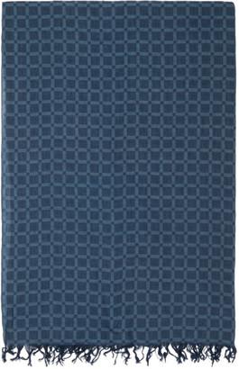 Blue Blue Japan Indigo and Blue Cotton Check Scarf