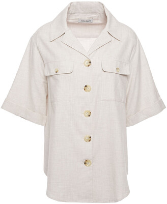 Anna Quan Dolly Brushed Cotton-twill Shirt