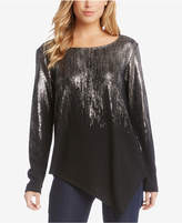 Karen Kane Ombré Asymmetrical Sweater