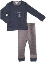 Purebaby Galaxy 2 piece set (Baby) - Blue-3-6 Months