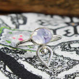 Amelia May Larue. Sterling Silver Facted Oval Moonstone Ring