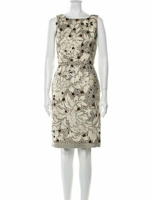 Oscar de la Renta 2008 Knee-Length Dress